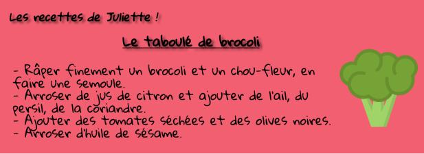 Recette de Juliette - Brocolis